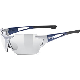 UVEX Sportstyle 803 Race VM Sportsbriller, silver blue metallic/litemirror silver